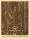 The High Altar and reredos beyond the choir of Westminster Abbey 1926 print